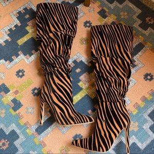 Miss Lola Knee Knee High Boots 6.5 Brand New